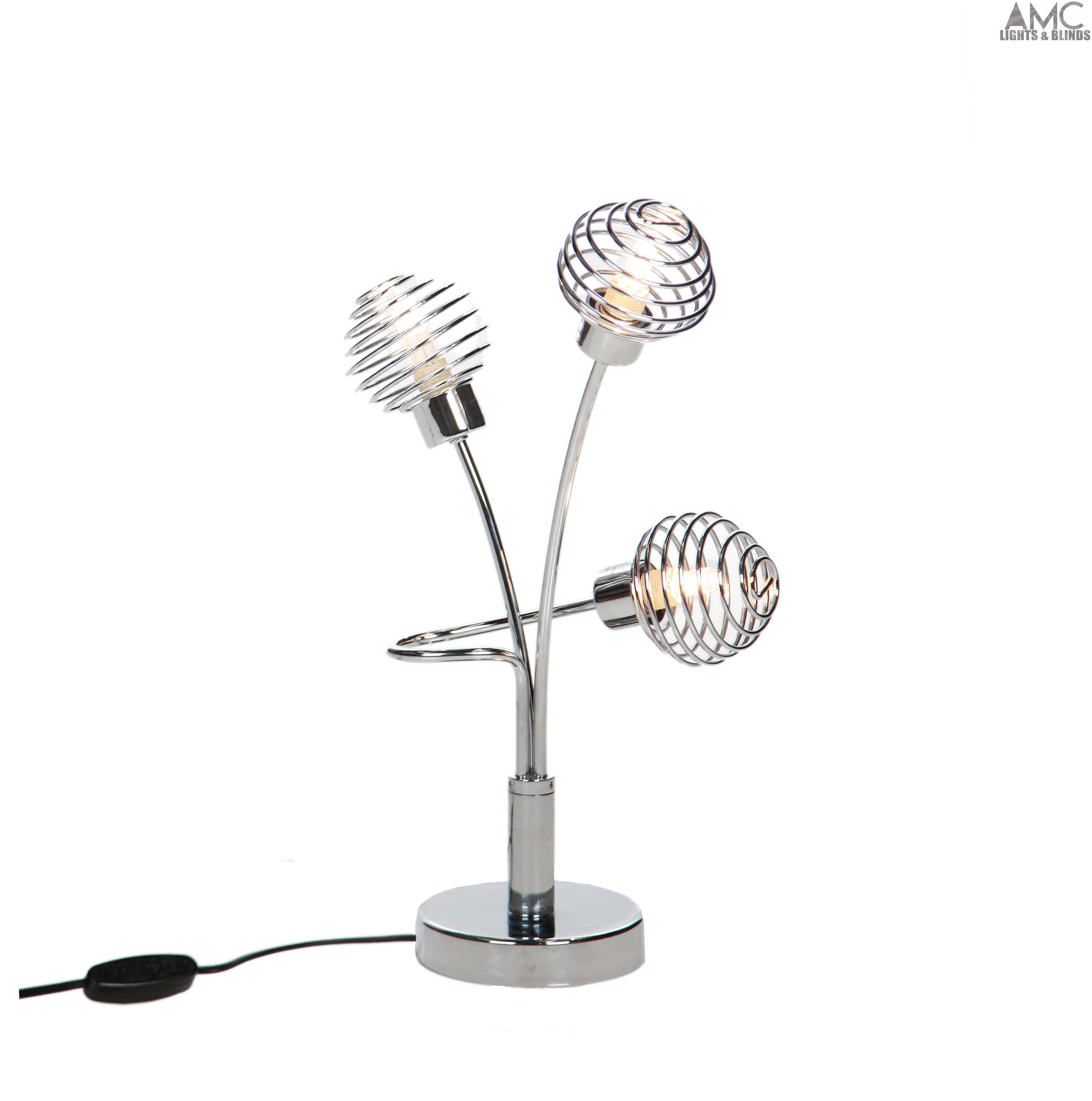 Modern chrome table desk lamps floor light and ceiling for Chrome halogen floor lamp