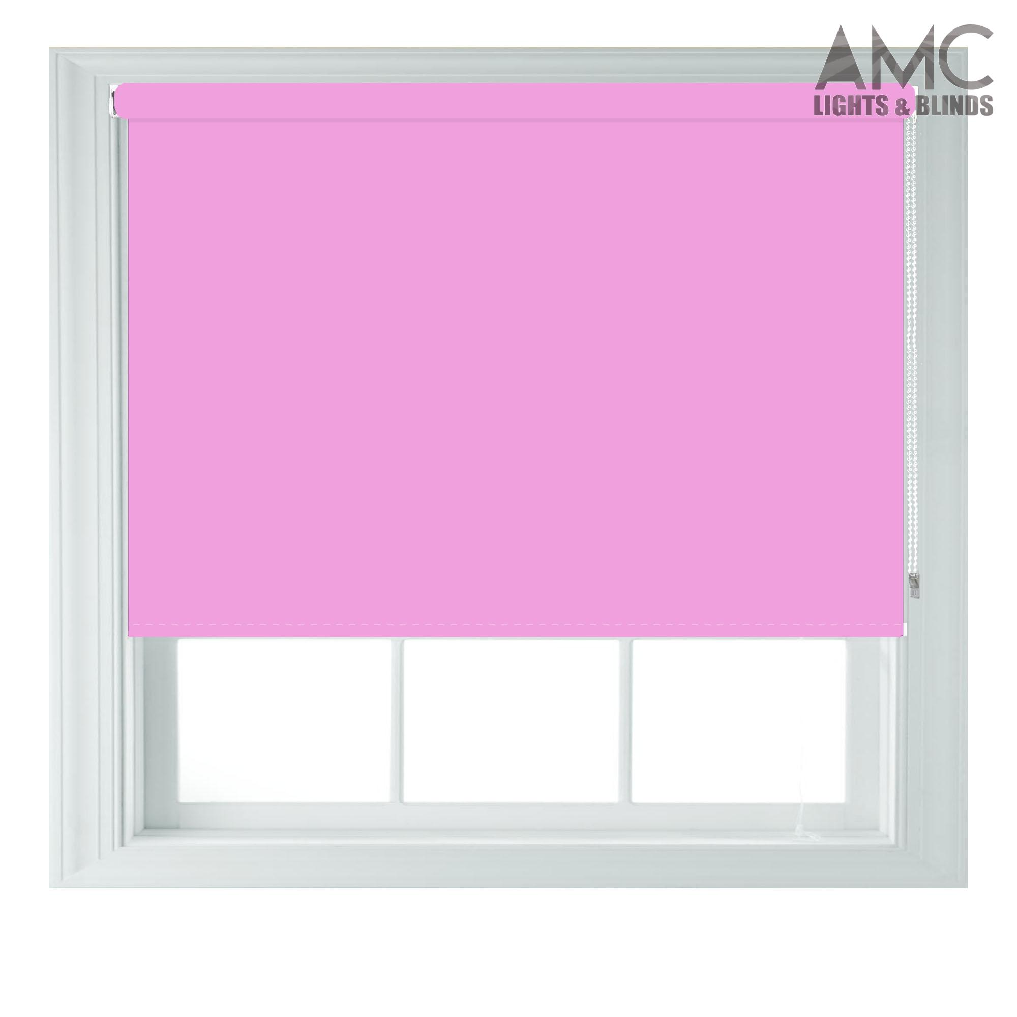 Pink-Blackout-Roller-Blind-Made-to-Measure-up-to-240cm-x-165cm-Kids-Girls-Blinds