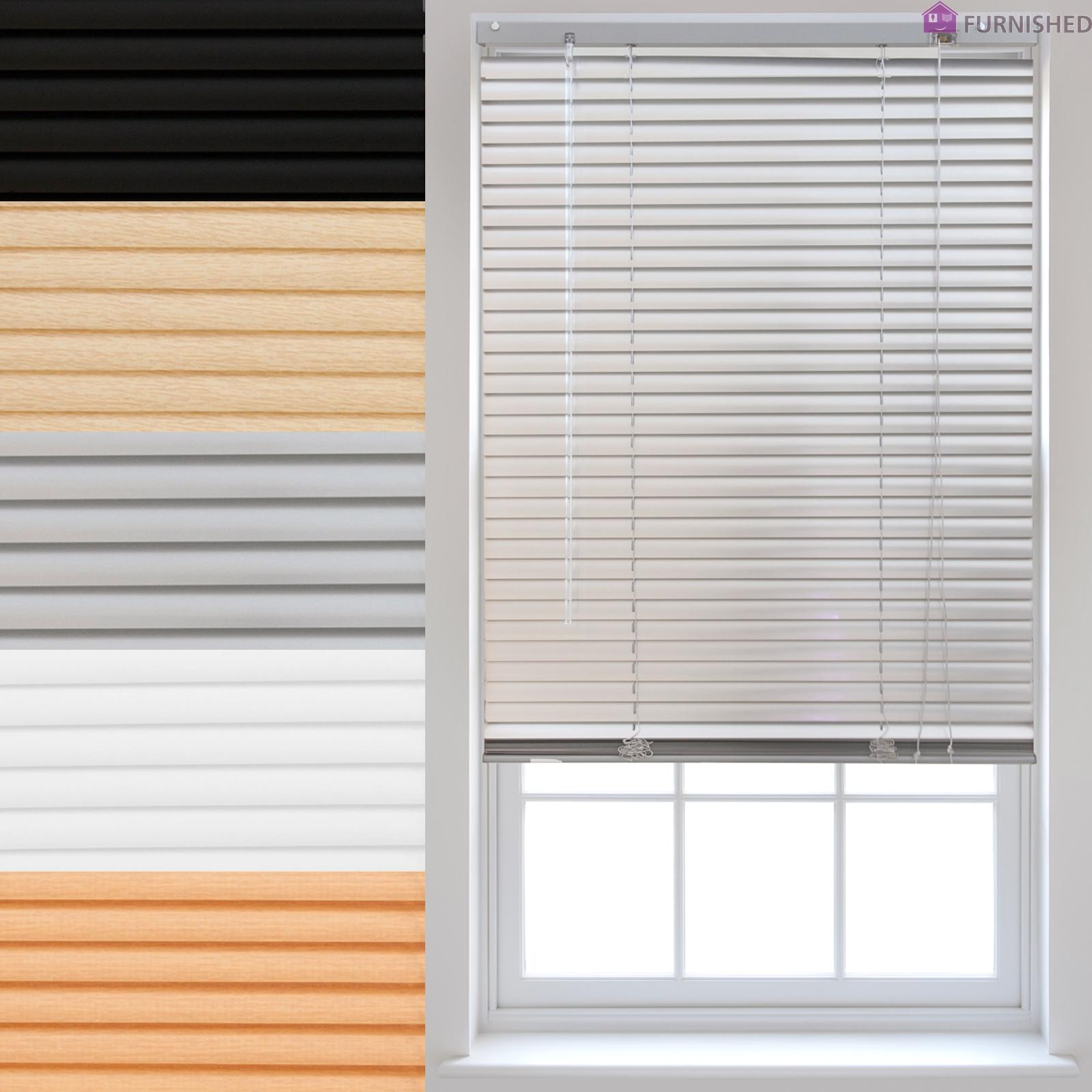 Pvc venetian window blinds trimmable home office blind new for 2 way window blinds