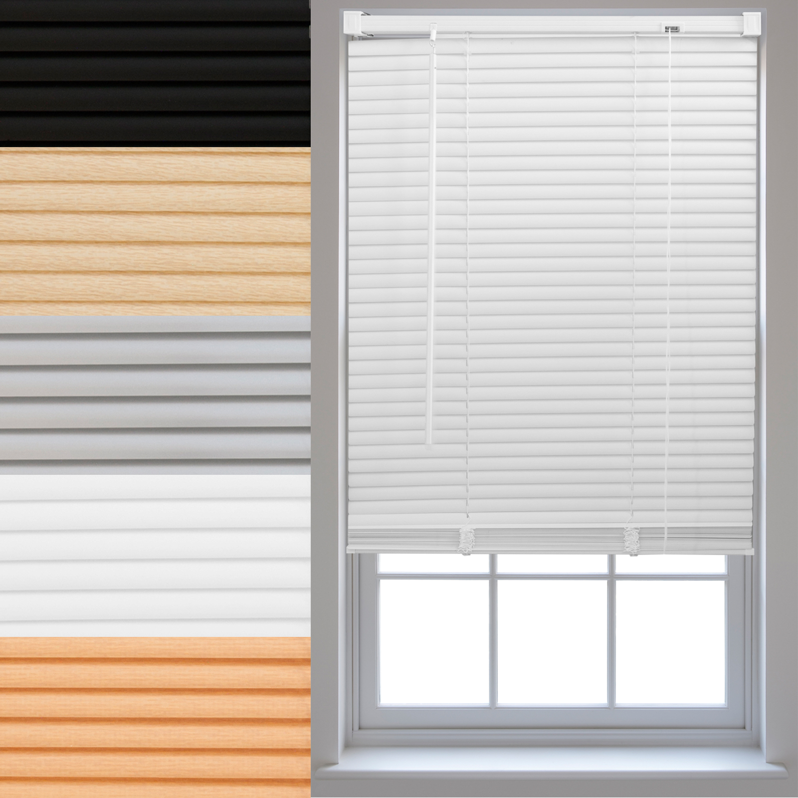 Pvc Venetian Blinds Made To Measure Window Home Office Blind New Ebay