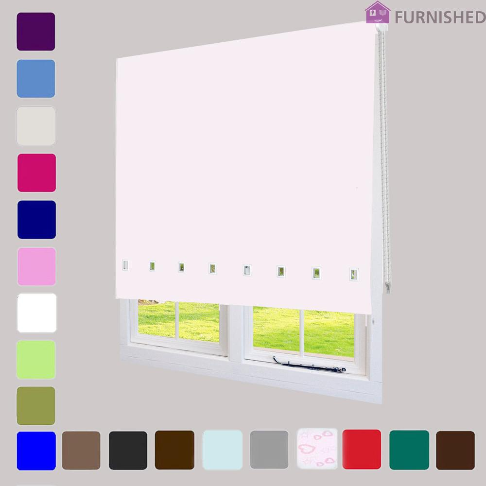 Quality Roller Blinds with Square Eyelet + FREE Alteration Service